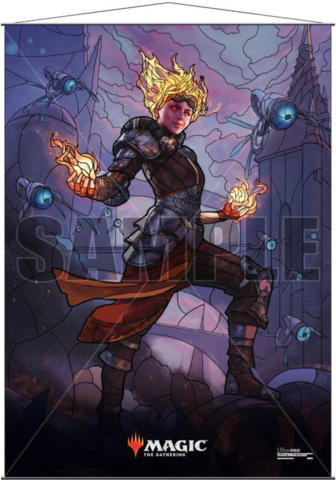 Ultra Pro Magic the Gathering Planeswalkers Stained Glass Wall Scroll - Chandra