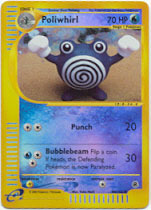 REVERSE HOLO CARD EXPEDITION NM 1X POLIWHIRL 89//165 POKEMON