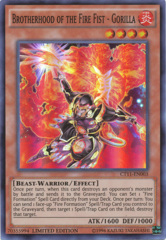 Brotherhood of the Fire Fist Gorilla - CT11-EN003 - Super Rare - Limited Edition