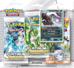 Pokemon Platinum Arceus 3-Booster Blister - Darkrai Promo