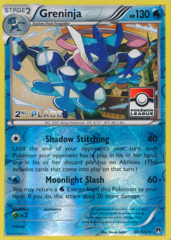 Greninja 40/122 Reverse Holo 2nd Place Promo - 2016 Pokemon League