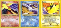 Set of 3 Legendary Bird Promos - Moltres 21, Articuno 22, Zapdos 23