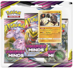 Pokemon Sun & Moon SM11 Unified Minds 3-Booster Blister Pack: Stakataka Promo