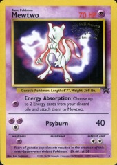 Mewtwo 3  Movie Stamp Non-Holo Promo - Mewtwo Strikes Back Movie Exclusive