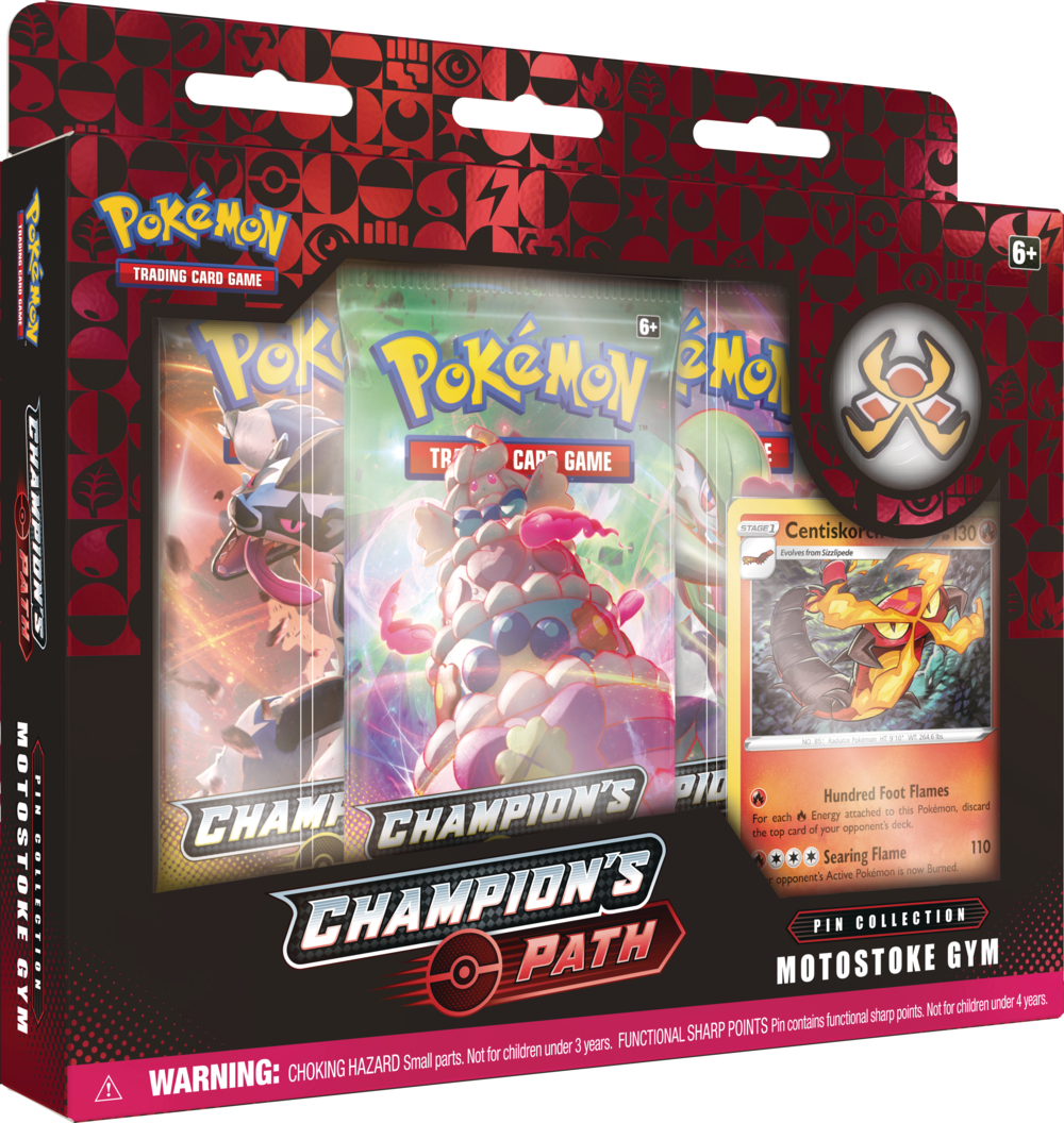 Pokemon Champions Path Pin Collection - Motostoke