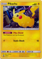 Pikachu SM157 Cosmos Holo Promo - Pikachu & Eevee Poke Ball Collection