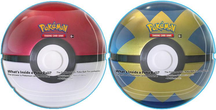 2018 Pokemon Set of 2 Poke Ball Tins: Poke Ball & Quick Ball