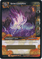 Grim Campfire Loot Card