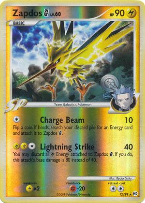 Pokemon Zapdos 12//99 Holo Englisch NM//Mint