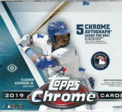 2019 Topps Chrome MLB Baseball Jumbo Hobby Box