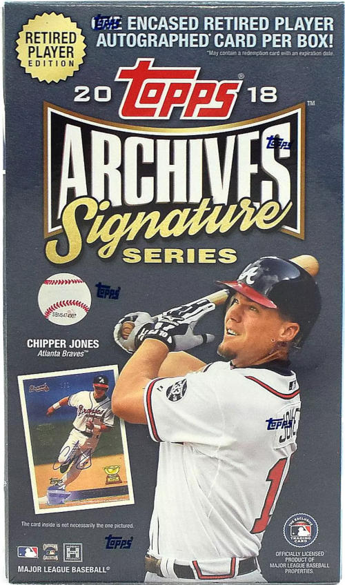 2018 Topps Archives Signatures Retired Player Edition Baseball Hobby