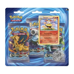 Pokemon XY12 Evolutions 3-Booster Blister Pack - Braixen Promo