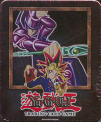 Yu-Gi-Oh 2002 Dark Magician Collectors Tin with 5 Packs and BPT-001 Card