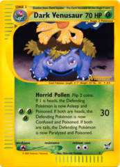 Dark Venusaur Non-Holo JUMBO OVERSIZED Promo Card - BattleZone Exclusive #7