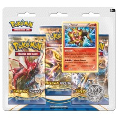 Pokemon XY9 BREAKpoint 3-Booster Blister Pack - Pyroar Promo