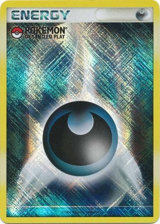 Darkness Energy Unnumbered Crosshatch Holo Promo - 2009 Pokemon Organized Play