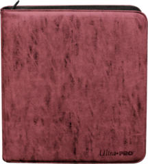 Ultra Pro 12-Pocket Deck Builder's Playset Suede Pro-Binder - Ruby