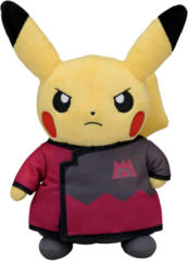 Japanese Pokemon Center Pikachu Boss Maxie Costume Plush
