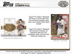 2019 Topps Pro Debut MLB Baseball Hobby Box