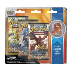 Pokemon XY11 Steam Siege 3-Booster Blister Pack - Volcanion Pin