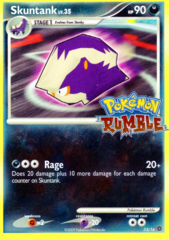 Skuntank 13/16 Cosmos Holo Promo - Pokemon Rumble