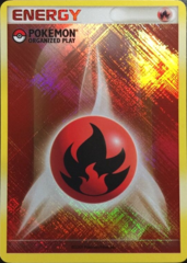 Fire Energy Unnumbered Crosshatch Holo Promo - 2009 Pokemon Organized Play