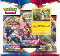 Pokemon Sword & Shield SWSH1 Base Set 3-Pack Blister - Morpeko