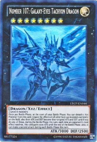 Number 107: Galaxy-Eyes Tachyon Dragon - LTGY-EN044 - Ghost Rare - Unlimited Edition