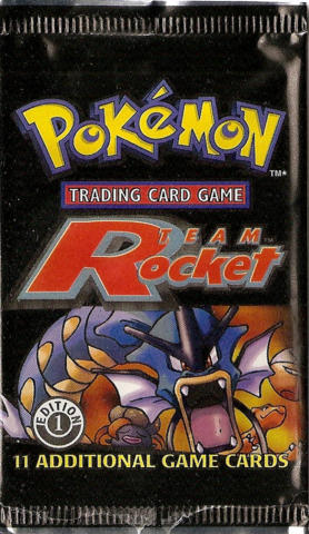 Pokemon Team Rocket 1st Edition Booster Pack - Gyarados Artwork