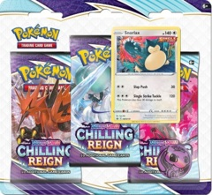 Pokemon SWSH6 Chilling Reign 3-Pack Blister - Snorlax