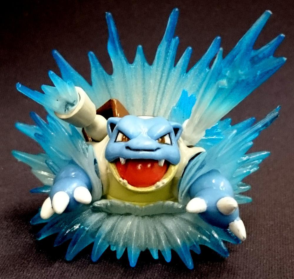 blastoise figure blastoise red blue collection pokemon card