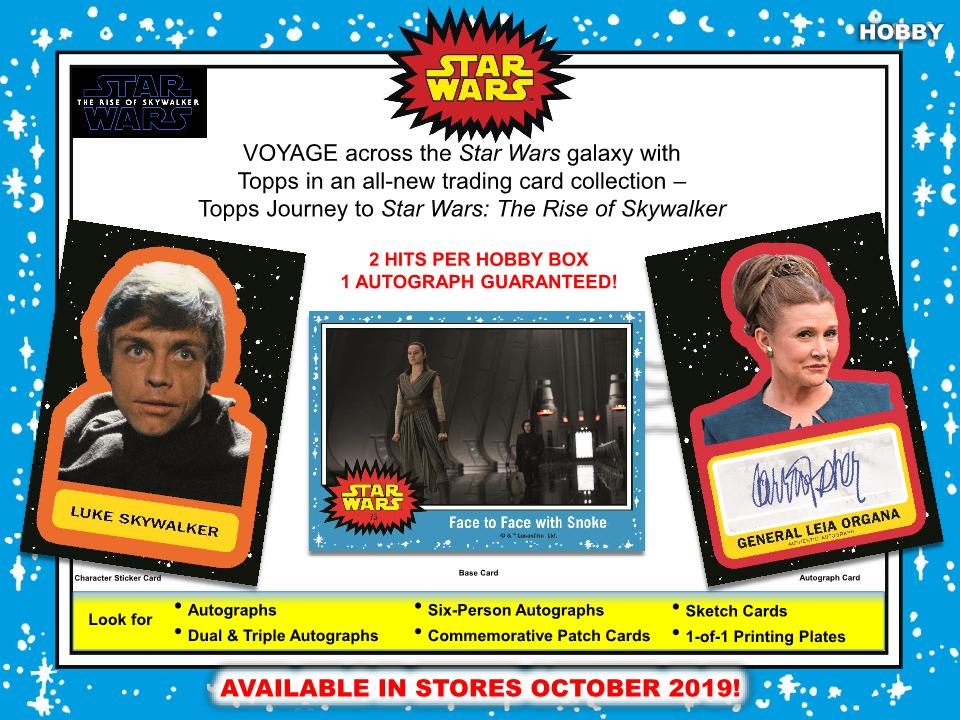 THE RISE OF SKYWALKER 2019 TOPPS HOBBY SEALED BOOSTER PACK JOURNEY TO STAR WARS