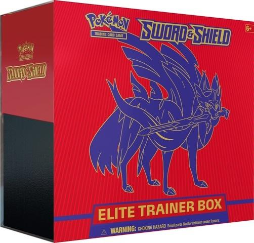 Pokemon Sword & Shield SWSH1 Base Set Zacian (Sword) Elite Trainer Box