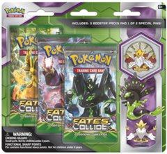 Pokemon XY10 Fates Collide 3-Booster Blister Pack - Mega Alakazam Pin