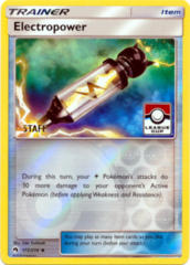 Electropower 172/214 Reverse Holo STAFF Stamp League Cup Promo - 2018 League Cups
