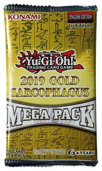 2019 Yugioh Gold Sarcophagus Mega Booster Pack 1st Edition