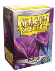 Dragon Shield NON-GLARE Matte Standard-Size Sleeves - Purple - 100ct