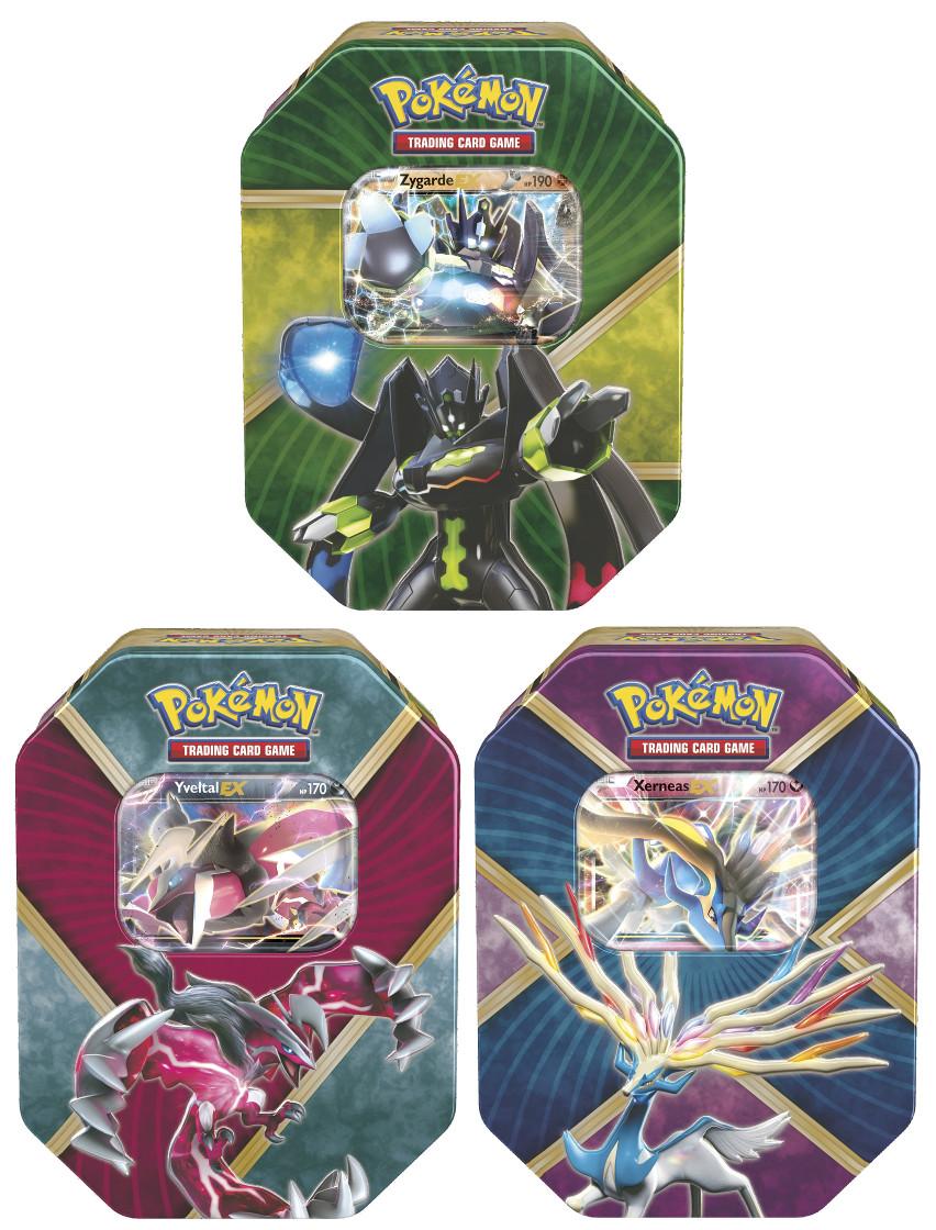 Pokemon Shiny Kalos Tin Set of 3 - Shiny Xerneas EX, Shiny ...