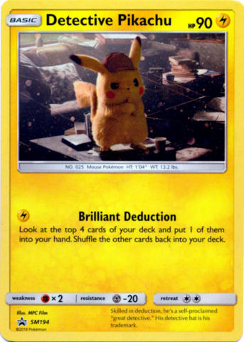 Pokemon Detective Pikachu On The Case Holo Promo Set SM170 SM198 SM199 SM200 NM