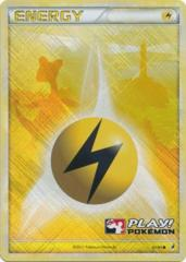 Lightning Energy 91/95 Crosshatch Holo Promo - 2011 Play! Pokemon