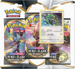 Pokemon Sword & Shield SWSH2 Rebel Clash 3-Pack Blister - Rayquaza Promo