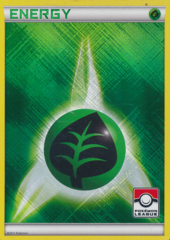 Grass Energy Unnumbered Crosshatch Holo Promo - 2011 Pokemon League