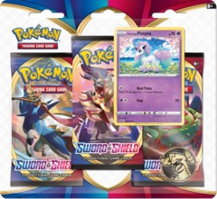 Pokemon Sword & Shield SWSH1 Base Set 3-Pack Blister - Galarian Ponyta