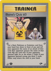 Blaine's Quiz #3 - 112/132 - Uncommon - 1st Edition