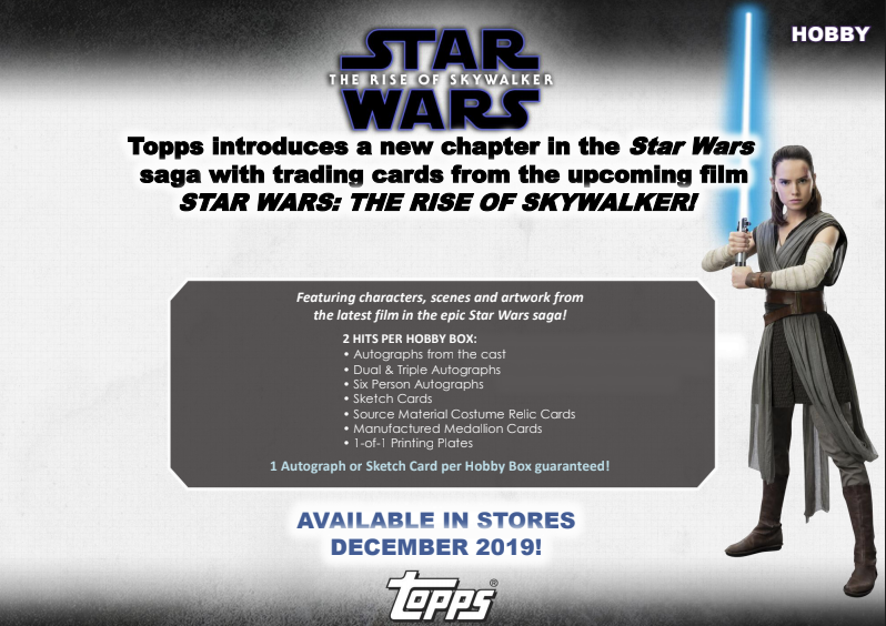 2019 Topps Star Wars The Rise Of Skywalker Hobby Box Sports Cards Trading Cards Star Wars Trading Cards Collector S Cache