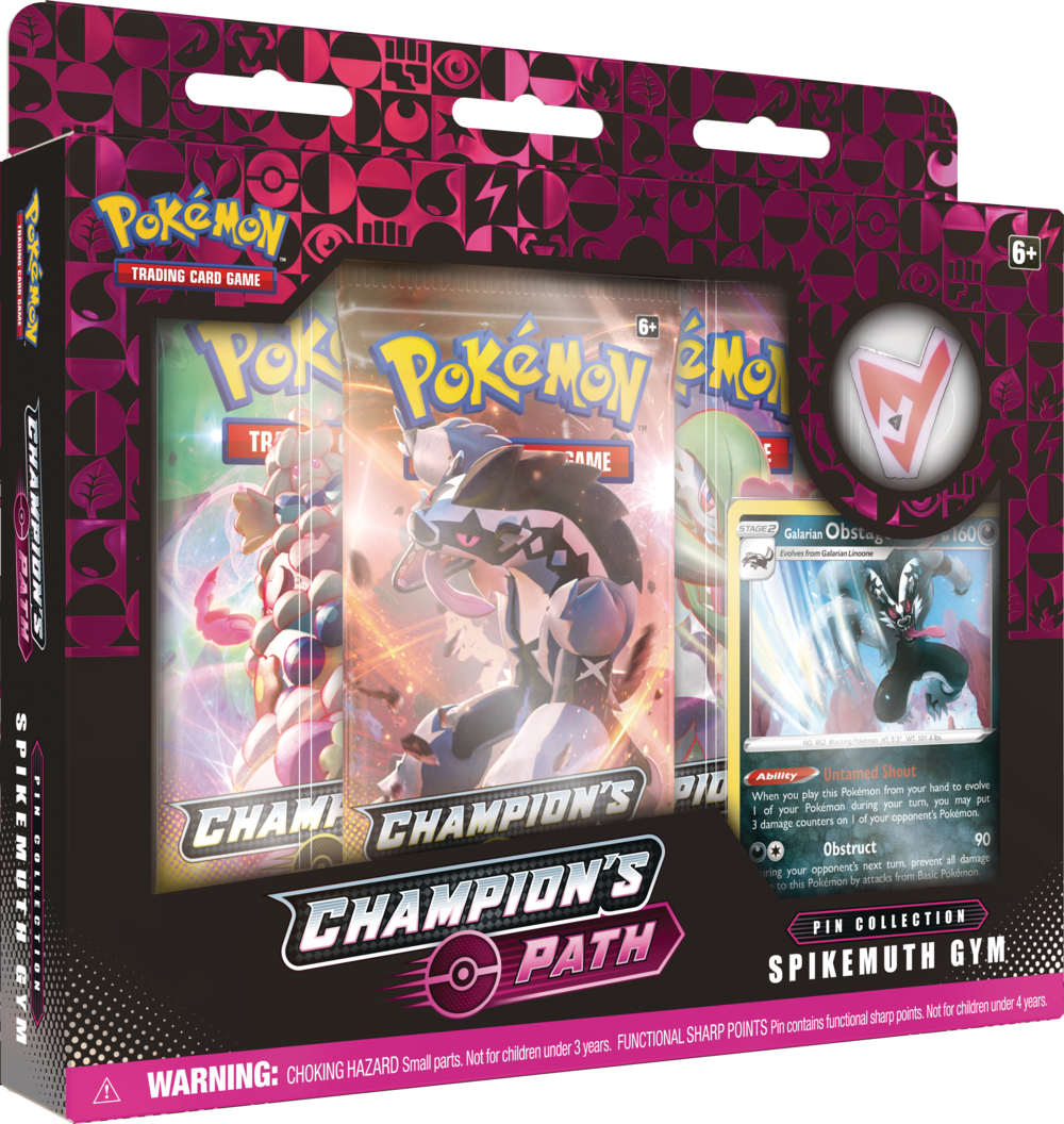 Pokemon Champions Path Pin Collection - Spikemuth