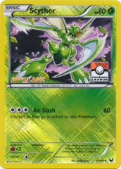 Scyther 4/108 Crosshatch Holo 3rd Place Promo - Pokemon League Challenge