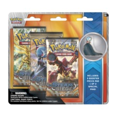 Pokemon XY11 Steam Siege 3-Booster Blister Pack - Mega Gardevoir Pin