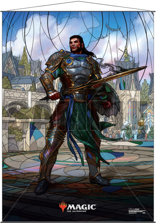 Ultra Pro Magic the Gathering Planeswalkers Stained Glass Wall Scroll - Gideon