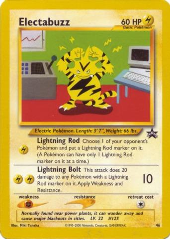 Pokemon Reverse Holo Energy Promo WOTC League Electric Lightning
